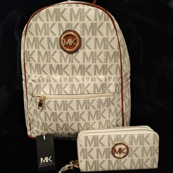 98870eb5b92b Bags | Womens Mk Mary King Large Backpack And Wallet 2pc | Poshmark